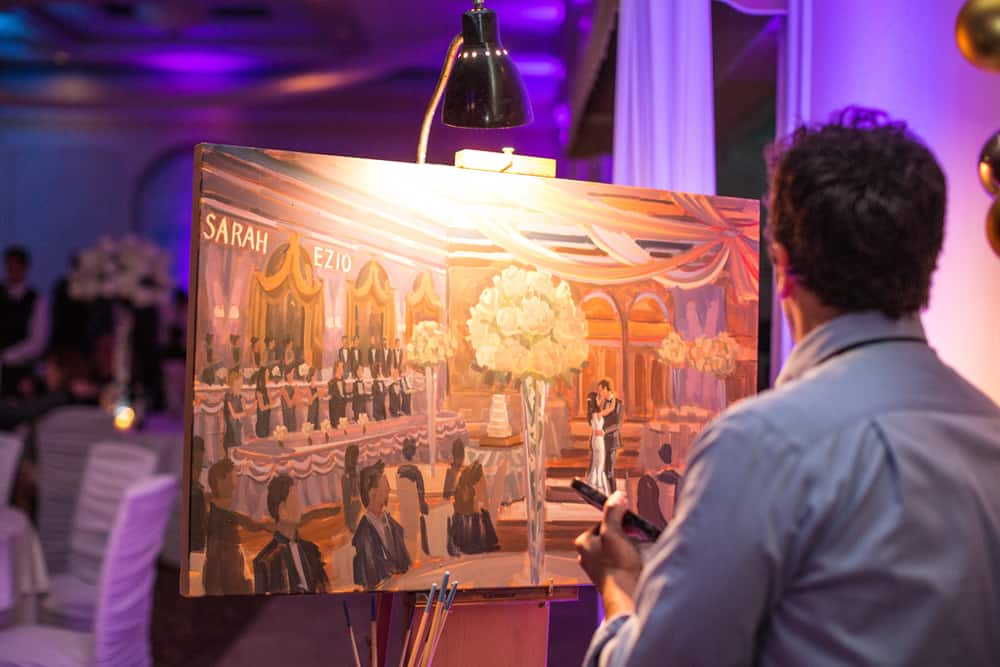 Photo of Live Wedding Painter