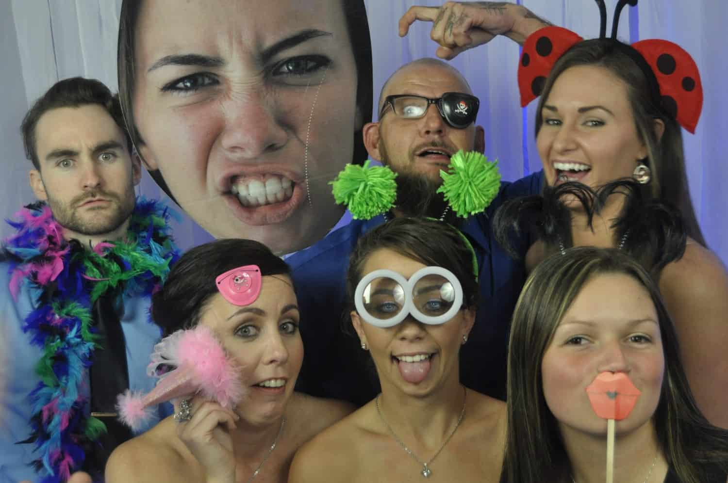 photo of group of people at a Orlando Photo booth rental