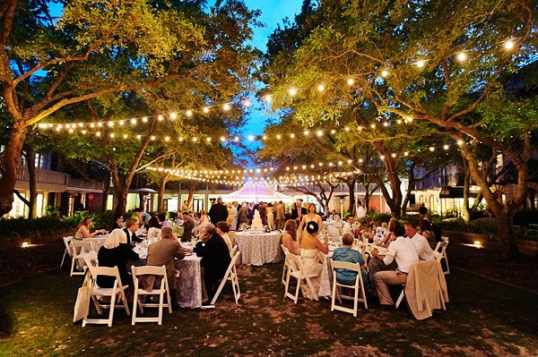 Photo of Outdoor Wedding Lighting Rental