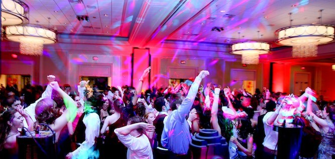 photo of a school events dj party