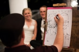 wedding caricatures artist
