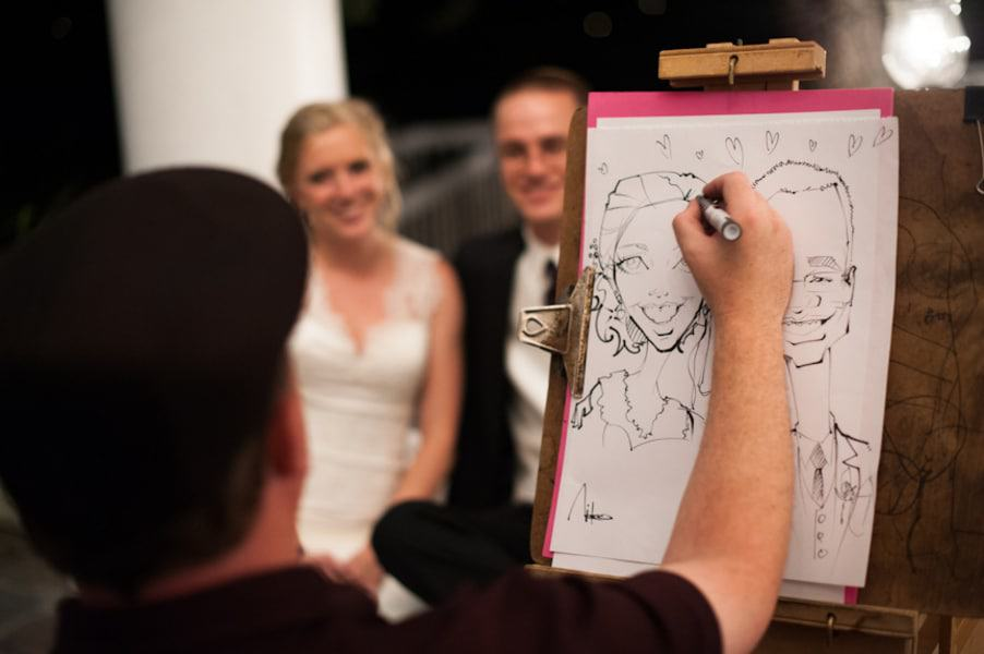 photo of Live Wedding artist at work